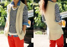 layering with sleeveless blazer