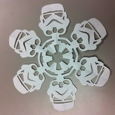 Make Star Wars snow flakes!! :D