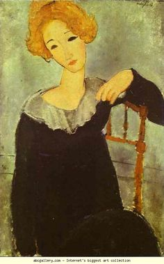 Amedeo Modigliani. Woman with Read Hair. Olga's Gallery.