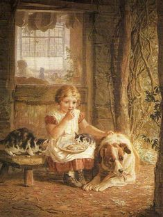 Messmates by Helena J. Maguire (1860 – 1909, English)