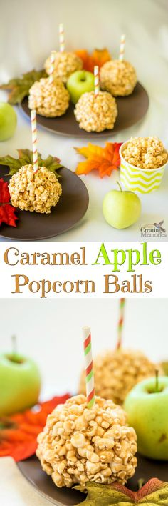 Taste the beauty of autumn with an easy homemade Caramel Apple Popcorn Balls recipe. Imagine apple infused caramel drizzled over a bed of fluffy white air-popped popcorn and formed into soft mouthwatering popcorn balls that you cant stop eating! Apple Recipes, Pumpkin Recipes, Fall Recipes, Cocoa Recipes, Popcorn Recipes, Snack Recipes, Dessert Recipes, Fruit Recipes, Sweet Recipes