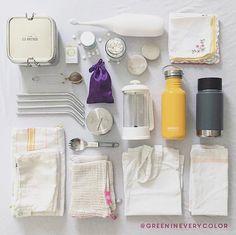 Tanja's 💚📷 zero waste travel essentials ————. - Lena und - Tanja's 💚📷 zero waste travel essentials ————. Tanja's 💚📷 zero waste travel essentials ————— WHAT IS IN YOUR TRAVEL KIT? ————— 🌍🍒 Another great account… - -