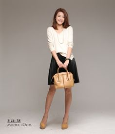 【楽天市場】【3月10日頃発送】カッコイイ大人のレザースカート洗練された印象で、本革に近い質感が美しいひざ丈・ハーフ丈・ボトムス・レディースファッション|メール便不可:笑顔美人