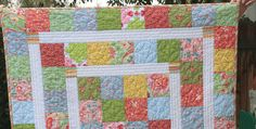 Easy baby quilt. Dig