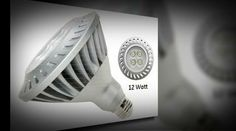 GE offers a dimmable 12 Watt LED PAR38 lamp that has a high light output ideal for indoor and outdoor applications.  Outstanding energy efficiency Using only 12 watts of energy, save over $132 in energy costs over the rated life of the lamp vs. a standard 60 watt halogen PAR38 based on $.11/kWh. http://www.agreensupply.com/ge-energy-smart-60w-replacement-12w-par38-led-bulb-warm-dim-energy-star/