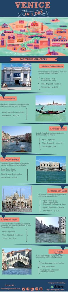 #Daycation - One day trip itinerary to Venice, Italy - wish I had had this when I went to Venice.