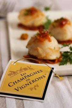 Dans la cuisine de Sophie: {jeu-concours} Champagne en cuisine ! Saint-Jacques aux oranges et abricots secs caramélisés au gingembre, concassé de pistaches.