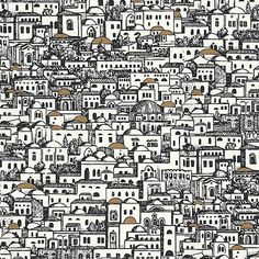Buy Cole and Son Mediterranea at Wallpaper Trail for only with FREE UK postage. All wallpapers from the Cole and Son Fornasetti Collection collection available. Fornasetti Wallpaper, Piero Fornasetti, Mediterranean Wallpaper, Mediterranean Houses, Mediterranean Architecture, Textures Patterns, Print Patterns, Arte Judaica, Groomsmen