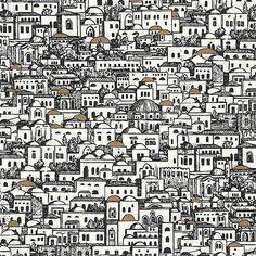 Piero Fornasetti's Mediterranea for Cole & Son So dense. Fantastic.