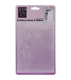 Take your creativity to the next level with the Ecstasy Crafts Embossing Folder-Garden Spray. Create artistic border designs with a stunning embossing effect that will make your art and craft projects
