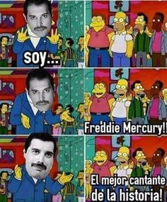 Freddie Mercury es épico. Lo conocieron de una :D Para más imágenes graciosas visita: https://www.Huevadas.net #meme #humor #chistes #viral #amor #huevadasnet