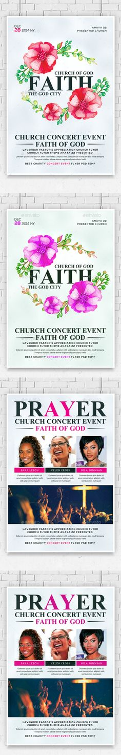 Faith and Prayers Church Flyers Template PSD Bundle. Download here: http://graphicriver.net/item/faith-and-prayers-church-flyers-bundle/15309778?ref=ksioks