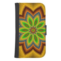 Abstract flower pattern phone wallets