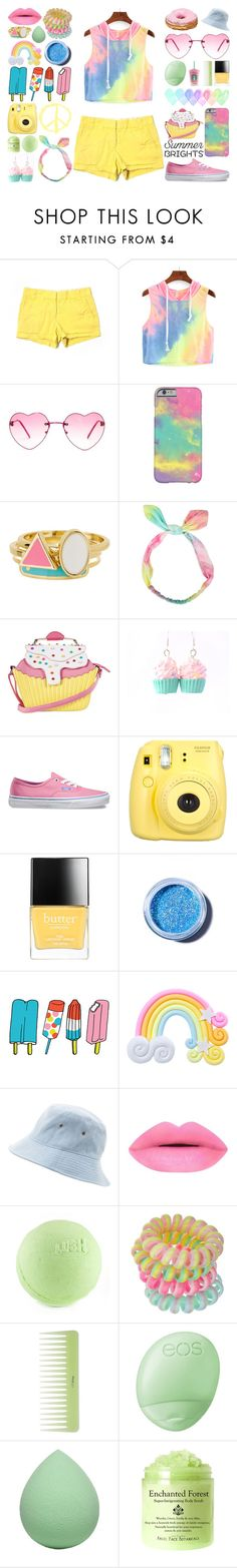 """""""Bright & Peaceful"""" by meaganmuffins ❤ liked on Polyvore featuring J.Crew, Forever 21, Ariella Collection, Iron Fist, Vans, Fujifilm, Butter London, Lime Crime, Tattly and Rad+Refined"""