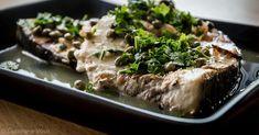 Cuisine-à-Vous - Gegrilde zwaardvis met kappertjes en citroen Steak, Bbq, Fish, Barbecue, Barrel Smoker, Pisces, Steaks