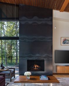 "David Papazian Photography on Instagram: ""Fireplace goals. Designed by @erikdyar #fireplace #modernhomes #modernfireplace #cozyhome #modernarchitecture #modernphotography #pnw"" Modern Fireplace, Modern Photography, Cozy House, Midcentury Modern, Modern Architecture, Family Room, Mid Century, David, Goals"