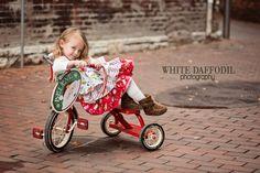 Christmas Ruffle Knot Dress - girls size 12 months to 5. $32.00, via Etsy. MJM  Amazing quality and craftsmanship!