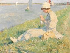 The Athenaeum - Girl by Lakeside. Date unknown (Jan Toorop - )
