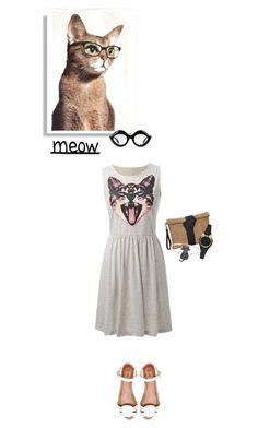 """""""Meow"""" by texaspinkfox ❤ liked on Polyvore featuring Kate Spade, Pull&Bear, Gucci and Finesque"""