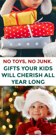 These are wonderful last so much longer than toys! Meaningful Gifts Kids Will Cherish All Year Long. Kid's Gifts That Aren't Toys. Kid's Gifts That Aren't Junk. Subscription Box Gifts That Bring Joy All Year Long.  #memorablechristmaspresents #kidschristmaspresentideas