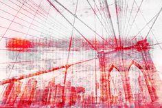 Parvez Taj Brooklyn Bridge - Canvas Art Print on Premium Canvas 30 x 45 Home Decor Wall Decor Canvas Art