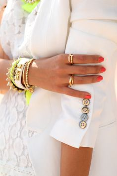 White, gold, and a little neon~
