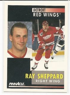 Ray Sheppard 1991-92 Pinnacle Detroit Red Wings Card 155 * More info could be found at the image url.