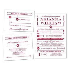 OMG these are so cute!  Romance Timeline - Bundle Basic - Inexpensive Wedding Invitations at Invitations By David's Bridal