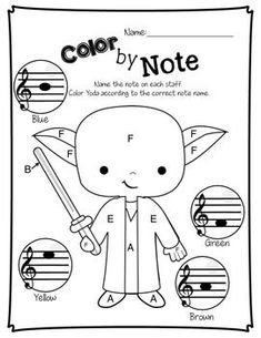 Treble Wars - Music Worksheets by Jena Hudson at Sew Much Music Music Lessons For Kids, Music Lesson Plans, Music For Kids, Cc Music, Piano Lessons, Star Wars Music, Theme Star Wars, Music Classroom, Music Teachers