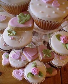 pink & green cupcakes & cookies