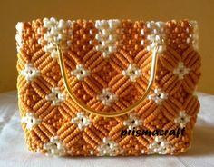 handbag macrame ~prismacraft~