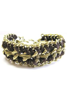 FAB Accessories Luxe Double Twisted Ultra Suede Metal Bracelet - DIY Jewelry Ideas