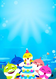 Baby Shark Invitation to edit 5 - party - Shark Birthday Cakes, Boy Birthday Parties, Baby Birthday, Baby Hai, 2 Baby, Baby Ruth, Printable Baby Shower Invitations, 1st Birthday Invitations, Unicorn Invitations
