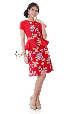 EVERLASTING BATIK | CA.20511 Webiana Red Batik Dress