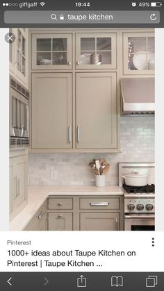 Greige Kitchen Cabinets With Tile Backsplash. This Is A Kitchen You Would  Never Tire Of.