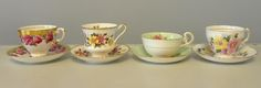 Vintage English tea cups and saucers, Can be found at The DH Collection  on Etsy