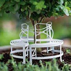 Fairy Garden Miniature Circular Bench