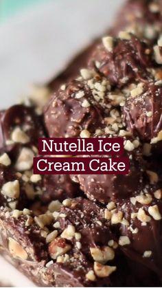 Frozen Desserts, Easy Desserts, Delicious Desserts, Dessert Recipes, Yummy Food, Snack Recipes, Fun Baking Recipes, Sweet Recipes, Cooking Recipes