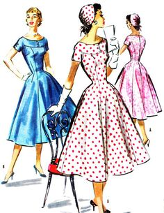 1950s Dress Pattern McCalls 3626 Day or Evening by paneenjerez, $18.00