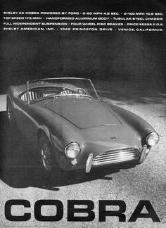 Classic Car News – Classic Car News Pics And Videos From Around The World Ac Cobra, Ford Shelby Cobra, Shelby Car, Mustang Cobra, Carroll Shelby, Ford Classic Cars, Car Advertising, Ford Gt, Cool Cars