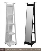 See this image on Nemie Furniture: PhP stand mirror with hook, shelves and ballcaster x x color: white or wenge AM/CX Dresser Vanity, Standing Mirror, Ladder Bookcase, Shelves, Furnitures, Color, Home Decor, Powder Room, Floor Standing Mirror
