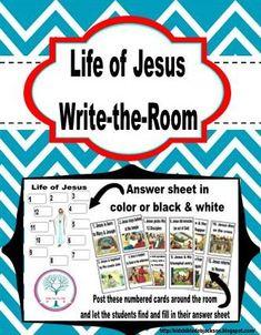 Bible Fun For Kids: Write-the-Room: Jesus