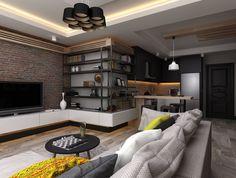 Stüdyo Daire Tasarımı : Minimalist Oturma Odası Ceren Torun Yiğit / Freelance İçmimarlık