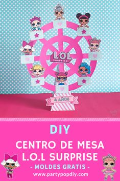 Best Picture For Lol Surprise Dolls Party Ideas tortas For Your Taste You are looking fo Doll Birthday Cake, Birthday Party Themes, Surprise Birthday, Bday Girl, Daughter Birthday, Party Pops, Doll Party, Lol Dolls, Party Printables