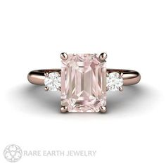 2ct Pink Morganite Engagement Ring