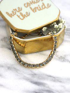 Gray Bracelet Tennis Bracelet Bridal Bracelet Bridal Tennis Swarovski Bracelet, Bridal Bracelet, Crystal Bracelets, Bridal Earrings, Swarovski Crystals, Emerald Earrings, Stylish Jewelry, Black Accents, Fashion Earrings