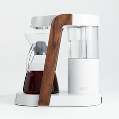Ratio Eight Oyster and Walnut Coffee Maker + Reviews   Crate and Barrel