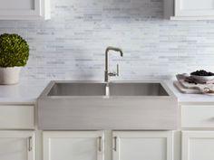 kohler vault x x topmount singlebowl stainless steel kitchen sink with tall apron for showroom sinks