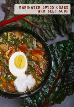 Swiss chard and beef soup recipe