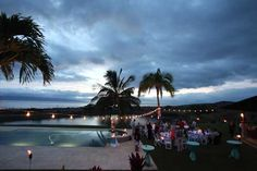 A catered wedding reception at Puunoa private estate in West Maui.